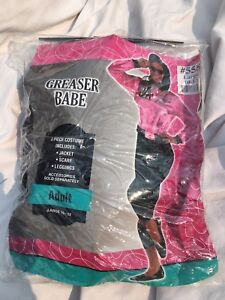 Image is loading Greaser-Babe-Adult-Pink-Lady-Costume-Size-Large- & Greaser Babe Adult Pink Lady Costume Size Large (10-12) | eBay