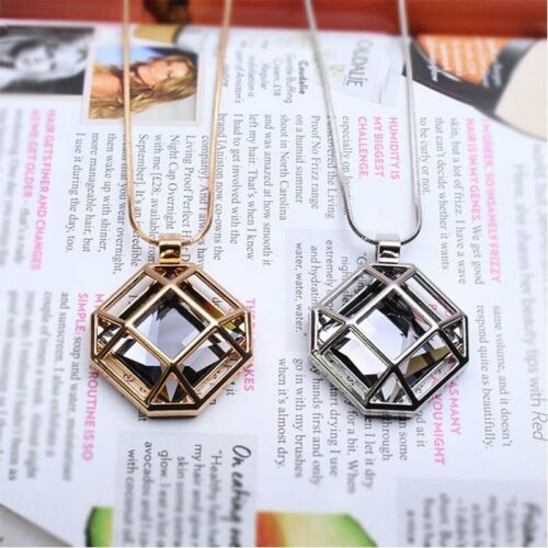 Chic Korean Square Hollow Pendant Necklaces Sweater Chain Women Christmas Gift