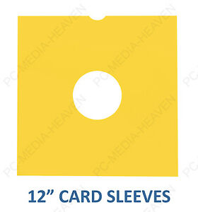 "12"" LP YELLOW CARD VINYL RECORD MASTERBAGS SLEEVES STORAGE PROTECTION COVERS"