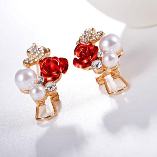 New Silver Round Zircon Ear Studs Earrings Filled Crystal Women Wedding Fashion