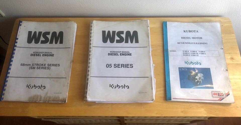 Kubota Workshop manualer , Kubota