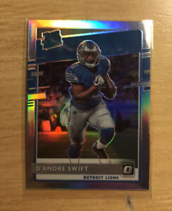 D'ANDRE SWIFT 2020 Donruss Optic RATED ROOKIE SILVER HOLO PRIZM RC Lions #159