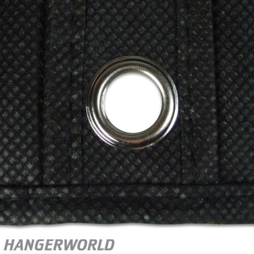 "Hangerworld™ 3 Black 60/"" Breathable Dress Clothes Covers Storage Garment Bags"