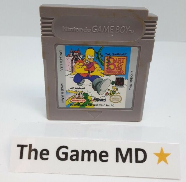 Simpsons: Bart and the Beanstalk (Nintendo Game Boy, 1993) Tested Working