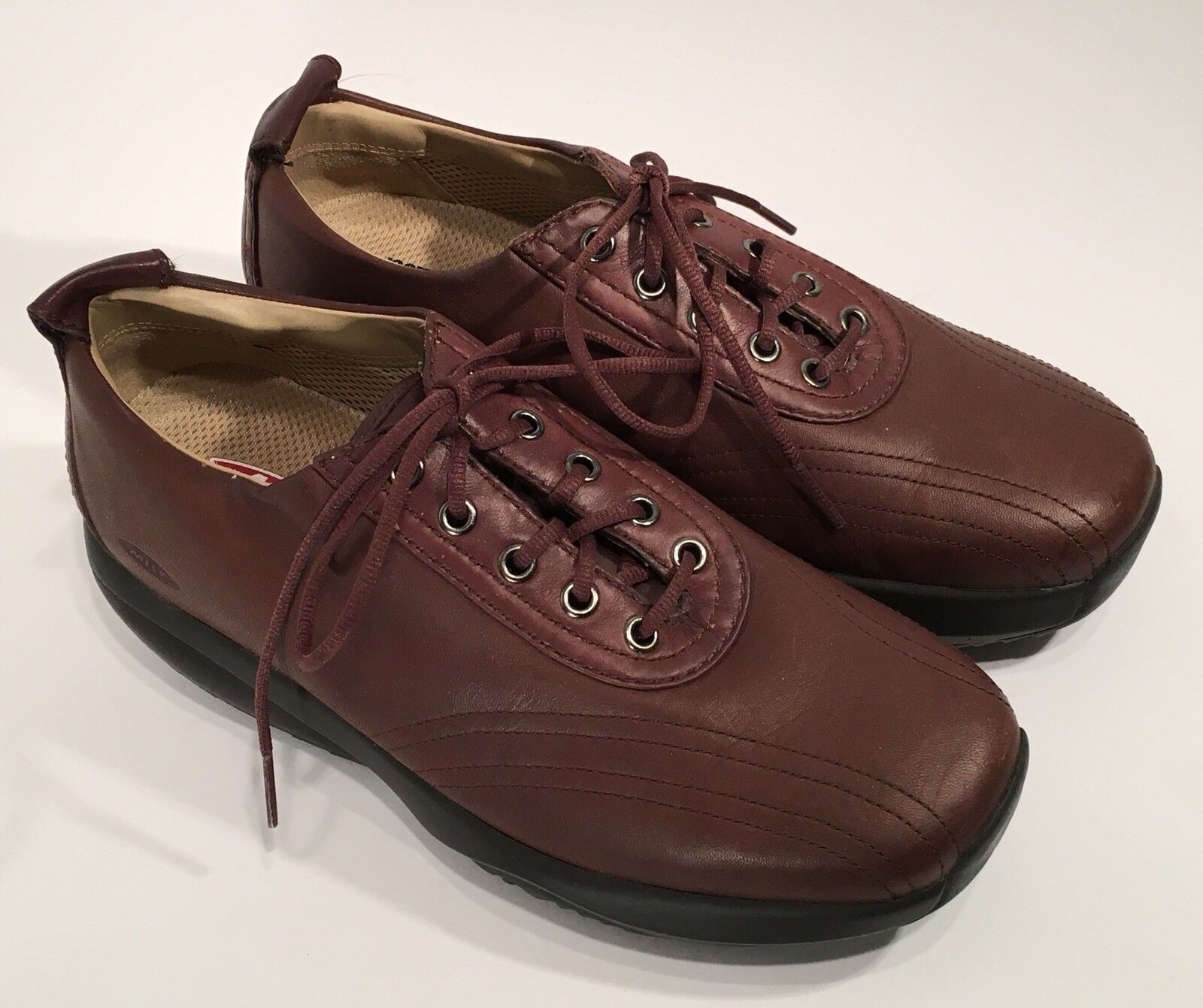 MBT Brown Leather Lace Up Rocker shoes in Womens Womens Womens 8 - GENTLY WORN 42540c