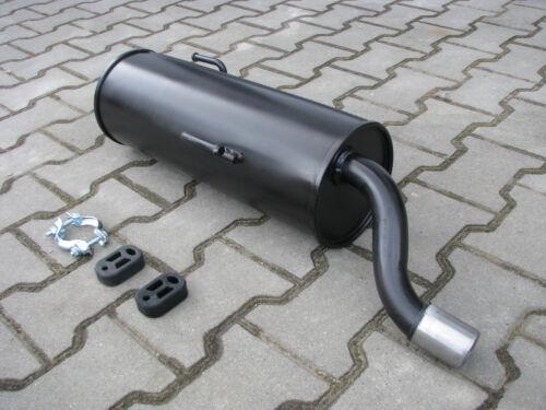 CC 206+ 16V Endschalldämpfer *742 Auspuff für Peugeot 206 1.1i 1.4i 1.6i