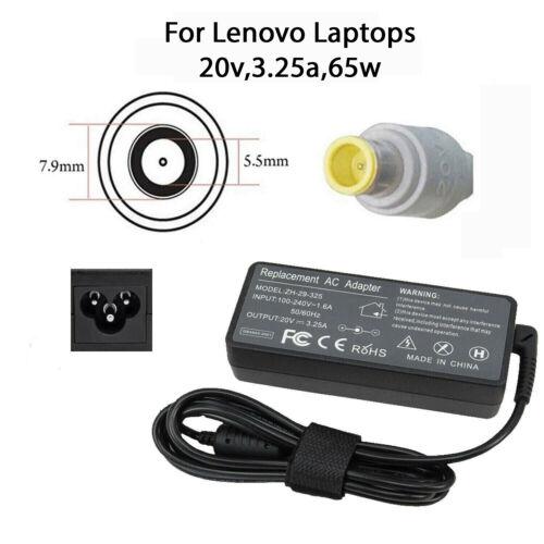 Adattatore Caricabatteria Per LENOVO AC sostituzione 20V 3.25A 7.9*5.5mm 65W NUOVO