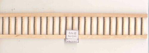 "Porch Railing WIDOW/'S WALK Assembled  T7032A 1pc 12/"" long  wood 1//12 scale"