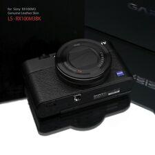 Gariz Leather Skin for Sony RX100iii RX100IV LS-RX100M3BK Black