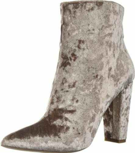 Jessica Simpson Teddi 9 M Cashmere Stiefel Mauve Pink Crushed Velvet Booties Party Stiefel Cashmere 2a06c1