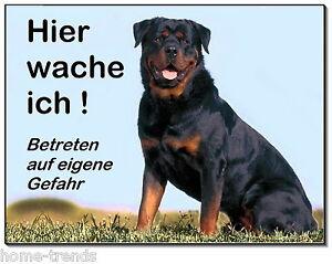 Aufrichtig Rottweiler-hund-aluminium-schild-0,5-3 Mm Dick-türschild-warnschild-hundeschild Haustierbedarf