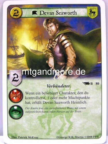 A Game of thrones lunaires 1x Devan seaworth #080 B-base set allemand