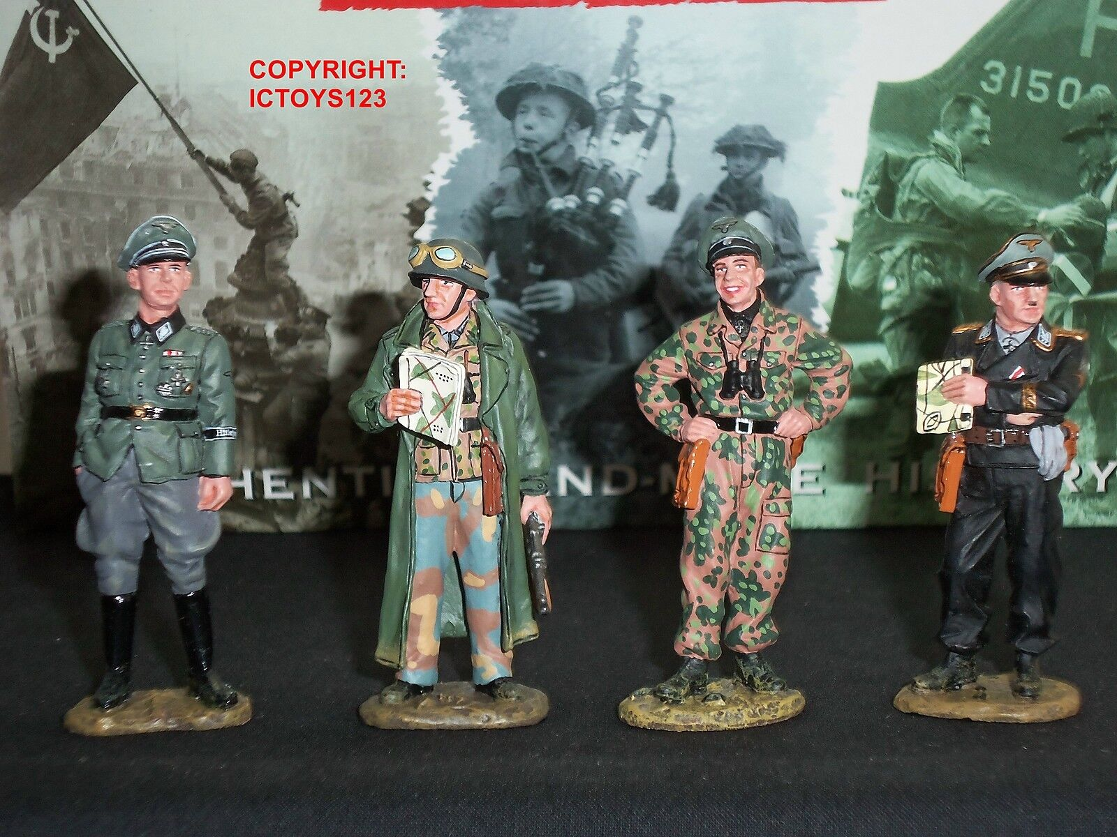 KING AND COUNTRY WSS75 GERMAN COMMANDERS CONFERENCE METAL TOY SOLDIER FIGURE SET