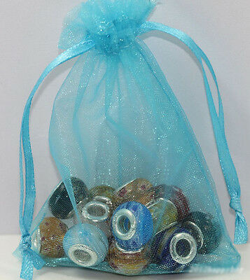 9X7cm Sheer Organza Wedding Birthday Party Favor Gift Candy Bags 25 50 100Pcs