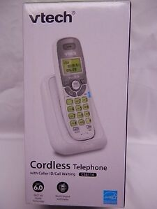 VTECH-CS6114-CORDLESS-TELEPHONE-WITH-CALLER-ID-CALL-WAITING-WHITE