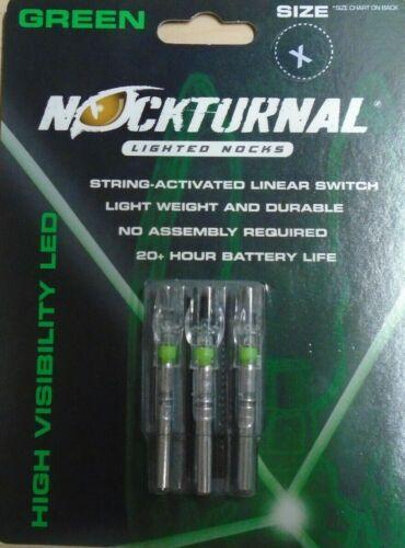 @NEW@ 3- Easton Axis Full Metal Jacket NOCKTURNAL GREEN LIGHTED X NOCKS NT-506