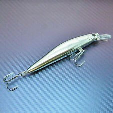 Floating Diving Plug Minnow Lure Swim Hard Bait Crank Bait Fishing Tackle 10cm