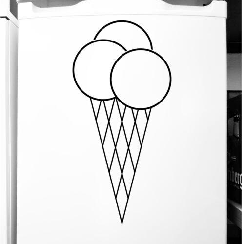 Cono de helado pegatinas tatuaje hielo cafe escaparate refrigerador película adhesiva mostrador decorativas