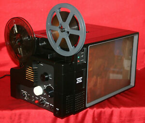 SUPER-8MM-SOUND-MOVIE-PROJECTOR-CHINON-DS-300-DAYLIGHT-SCREEN-SERVICED-A1