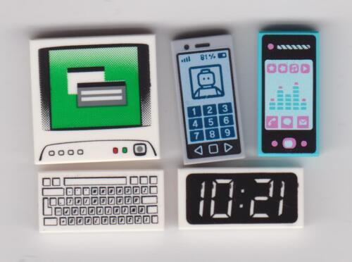 LEGO DIGITAL GADGETS ~ Smart Phone Cell Phone PC Computer Keyboard /& Clock Tiles