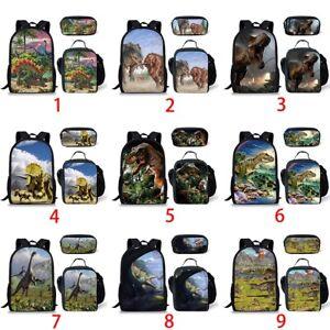 1bb22e86c9bf Details about Dinosaur Animal Boys Backpack Girls School Lunch Pen Bag  College Laptop Rucksack