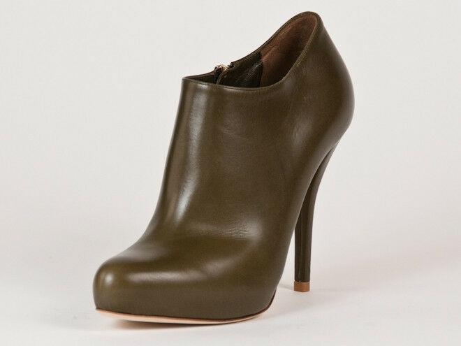 Neu Christian Dior greenes Leder Stiefel 36.5 Us 6.5