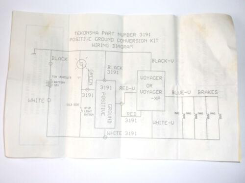 New Old Stock Tekonsha 3191 89266 Positive Ground Conversion Kit