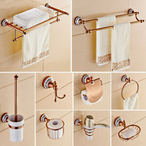 Luxury Rose Gold Bathroom Accessories Set Bath Hardware Towel Bar Holder Set Ebay