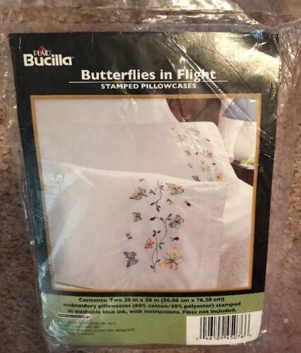 Bucilla  Pillowcase Cross Stitch Kit Butterflies in Flight WM45076 Unopened