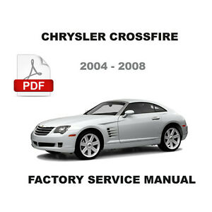 chrysler crossfire factory srt6 amg 3 2l supercharged service repair rh ebay com 2005 chrysler crossfire srt-6 owners manual crossfire srt-6 service manual