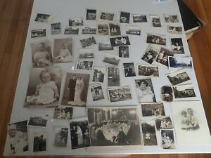 Vintage-Bulk-Lot-of-Early-Australian-Family-Portraits-early-Mid-1900s-B1