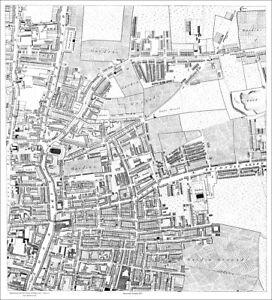 Shoreditch Bethnal Green W London Map 1813 1 6 Ebay