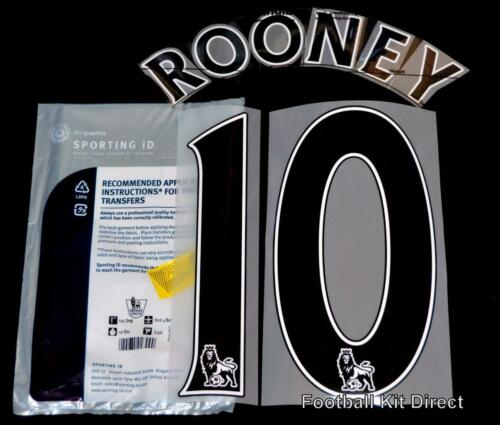Manchester United Rooney 10 Football Shirt Name Set 2014//15 PS Pro Player Size