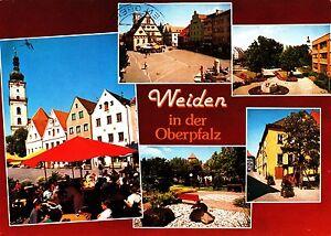 Weiden in der Oberpfalz , Ansichtskarte, 1989 gelaufen - Rostock, Deutschland - Weiden in der Oberpfalz , Ansichtskarte, 1989 gelaufen - Rostock, Deutschland