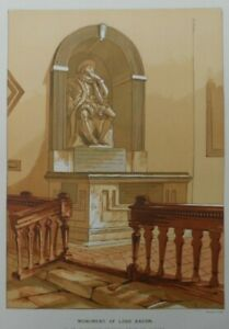 Antique-lithograph-print-Monument-of-Lord-Bacon-Leighton-Bros