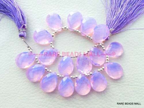 Lavender Quartz Faceted Pear Briolettes Loose Gemstone Jewelry Making Supply
