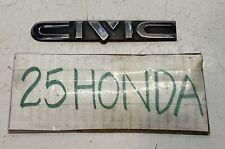 1988 1991 Honda Civic Wagon Logo Emblem Oem Rare Ef 4wd Si Ex