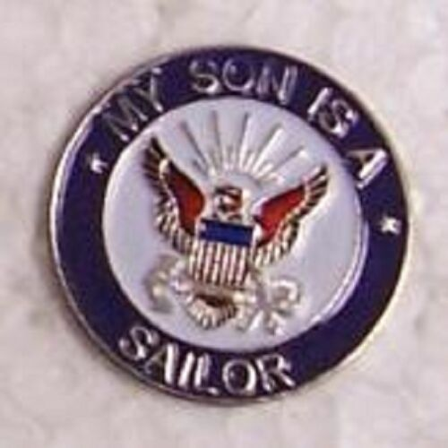 Hat Lapel Push Tie Tac Pin My Son is a Sailor NEW