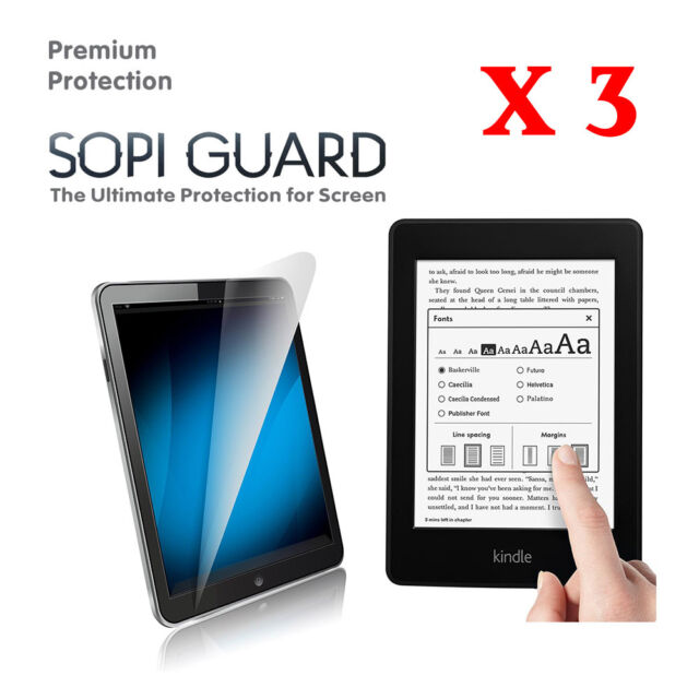 3 Pack SopiGuard Ultra Clear Screen Protector for Kindle ...