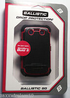 Agf Ballistic Sg Tough Jacket Case Cover For Blackberry Bold 2 9700 9780 Red