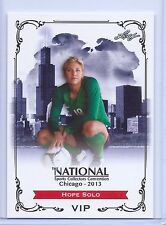 HOPE SOLO 2013 LEAF EXCLUSIVE COLLECTORS CONVENTION SOCCER CARD! W/H TOP LOADER!