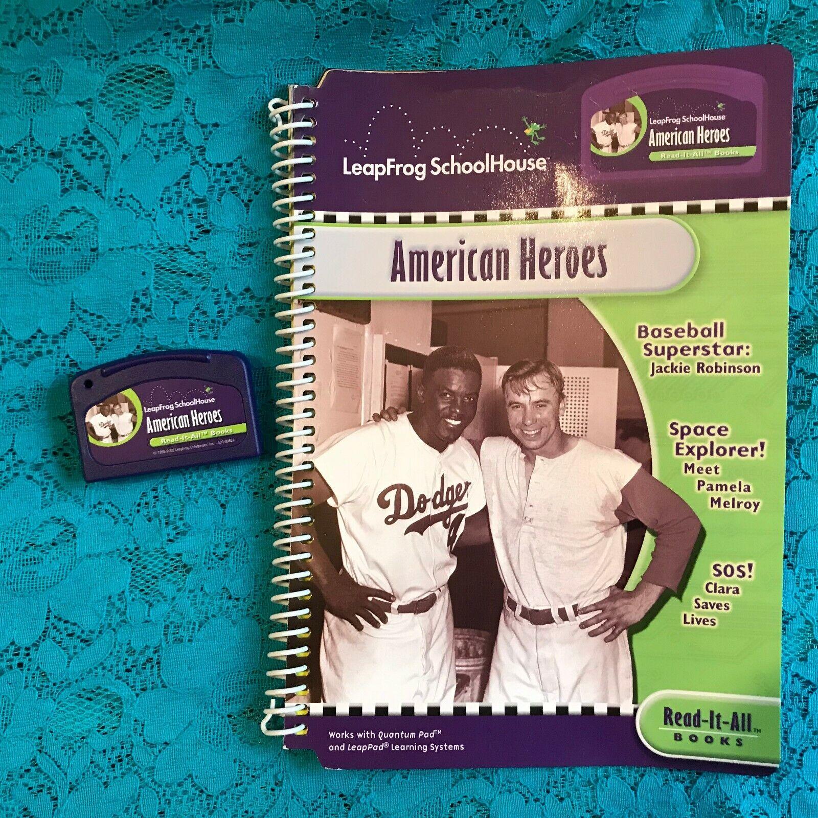 LeapFrog  SchoolHouse   AMERICAN HEROES   READ IT ALL BOOK & CARTRIDGE