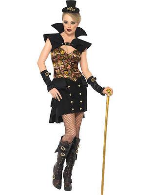 Sexy Steampunk Vampir Kostüm Halloween Fasching Karneval Verkleidung Damen