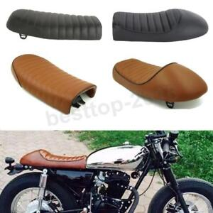 Image Is Loading Flat Hump Saddle Cafe Racer Vintage Seat Cushion
