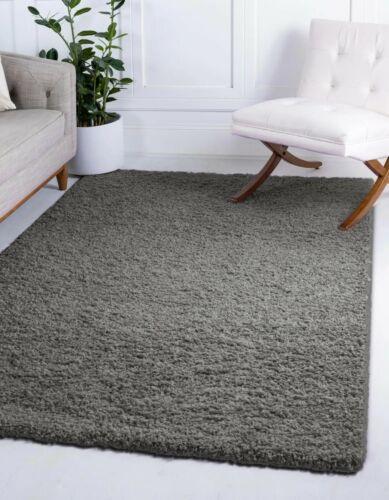 5 CM Thick Plain Modern Shaggy Area Rugs Classic Trellis Geometric Fluffy Carpet