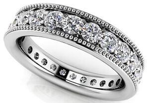 1-88-ct-Round-cut-Diamond-ETERNITY-Ring-14k-White-Gold-Band-25-x-0-075-ct-Size-8