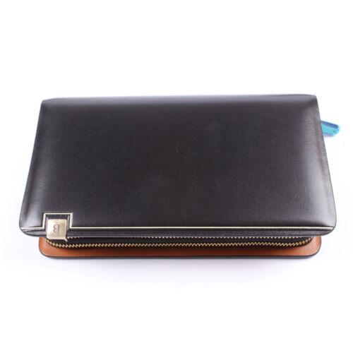 Men/'s Dural Zip Business High Capacity Genuine Leather Handbag Fashion Clutch