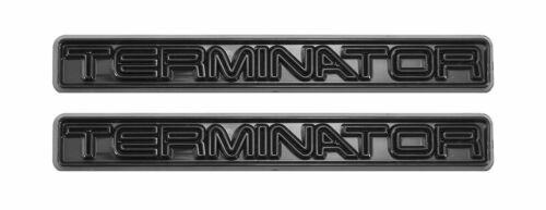 2003-2004 Mustang Cobra All Black Terminator Fender Trunk 5/' Emblems Pair
