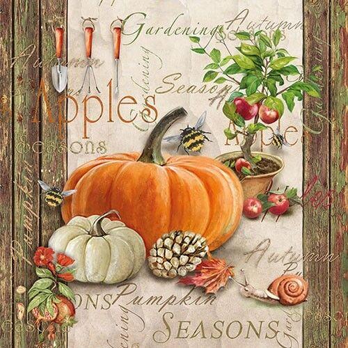 Papierservietten Servietten Autumn Gardening Weihnachten Herbst Geschenkidee
