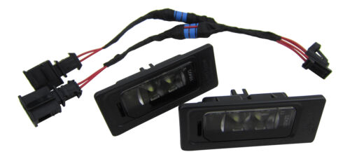2x Original Skoda LED Kennzeichenbeleuchtung CanBus Anschluss Adapter Kabel #3AF